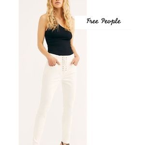 NWT Free People crvy size 33 or 34 lace up skinny